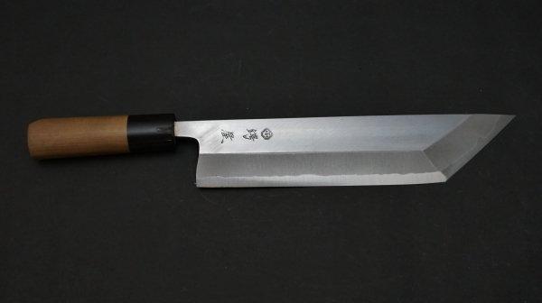 白二鋼 普及品 江戸裂き 朴柄<br>White #2 Tokyo Eel Knife Magnolia Handle