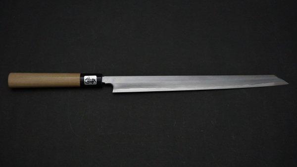 青ニ鋼 上仕上 切付フグ引 朴柄<br>Blue #2 Pro Kiritsuke Fugubiki Magnolia Handle