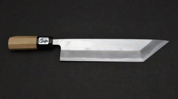 出雲玉鋼 江戸裂き 朴柄<br>Tamahagane Tokyo Eel Knife Magnolia Handle