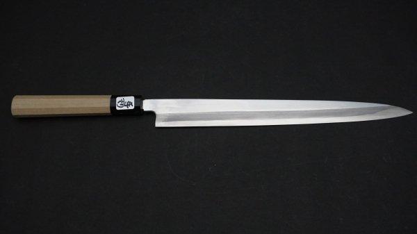 出雲玉鋼 フグ引 朴柄<br>Tamahagane Fugubiki Magnolia Handle