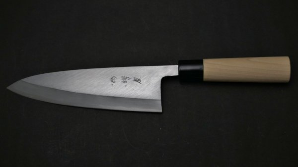 左刃 PC 出刃 朴柄<br>Left Handed PC Deba Magnolia Handle