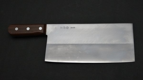 つば屋 中華包丁 紫檀柄 (#6)<br>Tsubaya Chinese Cleaver Rosewood Handle (#6)