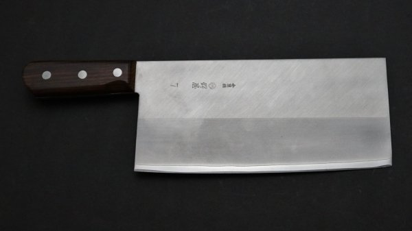 つば屋 中華包丁 紫檀柄 (#7)<br>Tsubaya Chinese Cleaver Rosewood Handle (#7)