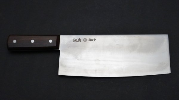 つば屋 中華包丁 紫檀柄 (小型)<br>Tsubaya Chinese Cleaver Rosewood Handle (Small)