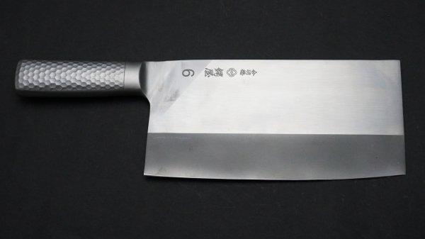つば屋 中華包丁 ステンレス柄 (#6)<br>Tsubaya Chinese Cleaver Stainless Handle (#6)