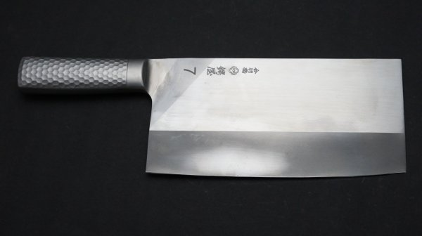 つば屋 ステンレス中華 #7</br>Tsubaya Stainless handle Chinese Cleaver #7