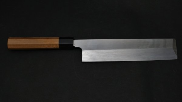 本焼 安来鋼 薄刃 朴柄<br>Honyaki Yasuki Hagane Usuba Magnolia Handle