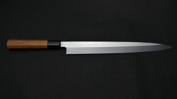 本焼 安来鋼 柳刃 朴柄<br>Honyaki Yasuki Hagane Yanagiba Magnolia Handle