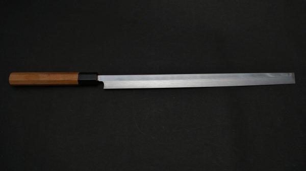 本焼 安来鋼 蛸引 朴柄<br>Honyaki Yasuki Hagane Takobiki Magnolia Handle