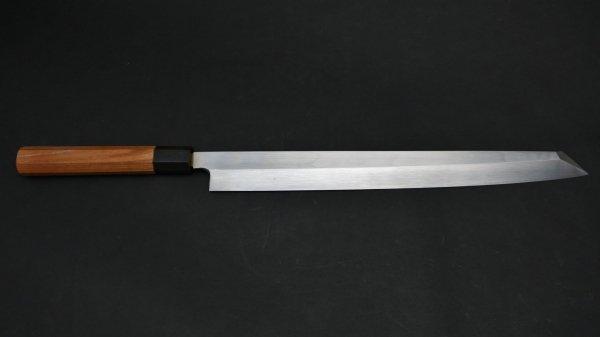 本焼 安来鋼 切付柳刃 朴柄<br>Honyaki Yasuki Hagane Kiritsuke Yanagiba Magnolia Handle