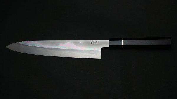 本焼 月影 牛刀 黒檀柄<br>Honyaki Tsukikage Gyuto Ebony Handle