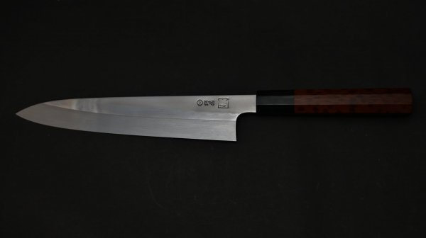 本焼 青二鋼 牛刀 スネークウッド柄<br>Honyaki Blue #2 Gyuto Sneakwood Handle