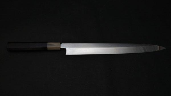 本焼 銀三鋼 柳刃 黒檀柄<br>Honyaki Ginsan Yanagiba Ebony Handle