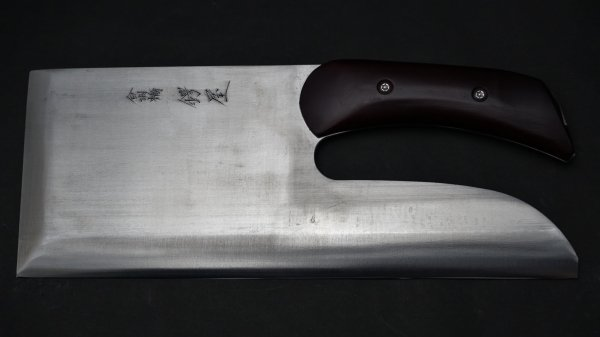左刃 白二鋼 麺切 紫檀柄 (別打)<br>Left Handed White #2 Menkiri Rosewood Handle (Special)