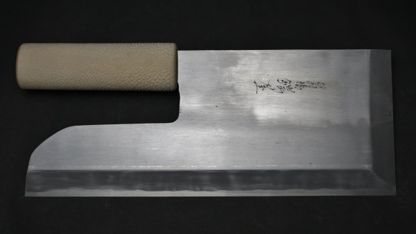 白二鋼 麺切 鮫皮柄<br>White #2 Menkiri Shark Skin Handle