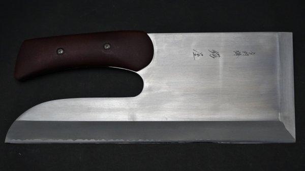 モリブデン鋼 麺切 漆柄 (特製)<br>Molybdenum Menkiri Urushi Handle (Special)
