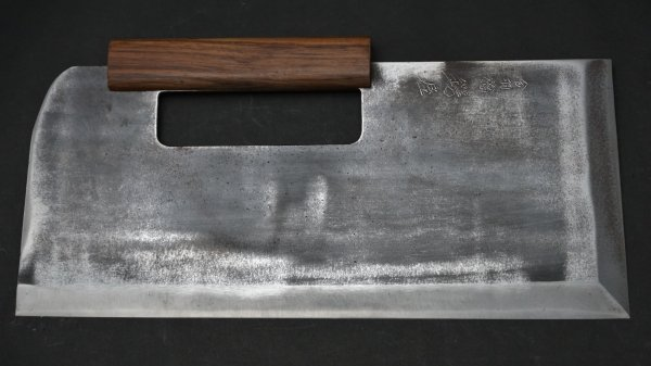 会津型 麺切 紫檀柄<br>Aizu Type Menkiri Rosewood Handle