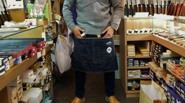 HI-CONDITION x TSUBAYA セルビッチ(赤耳)デニム ハーフエプロン<br>HI-CONDITION x TSUBAYA Serubitchi Denim Half Apron