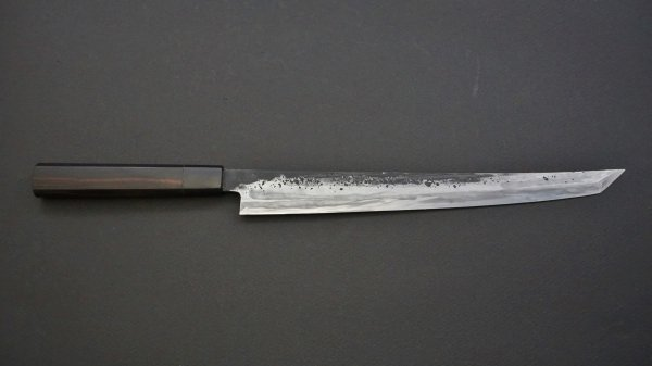 籐(とう) 先丸筋引 黒檀柄<br>Tou Sakimaru Sujihiki Ebony Handle