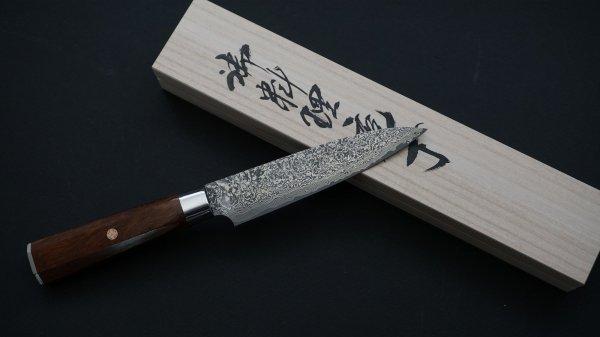 ハイス鋼 ダマスカス 和式 ペティ アイアンウッド柄<br>Powder Steel Ironwood Wa-handle Petty Ironwood Handle