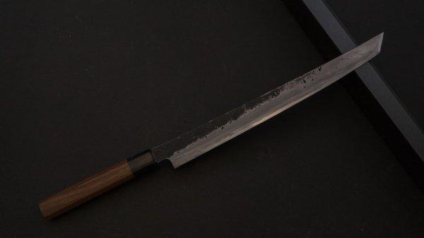 藤(とう) 先丸筋引 紫檀柄<br>Tou Sakimaru Sujihiki Rosewood Handle