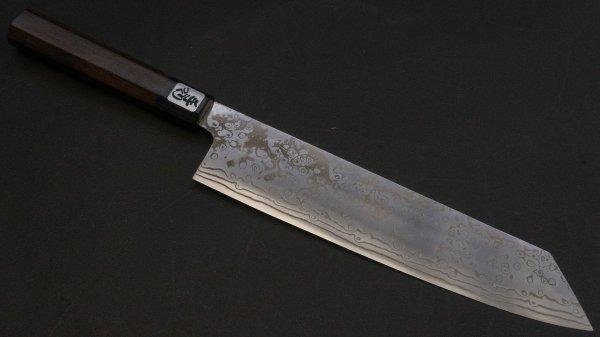吉田刃物 ZDP-189 21層 和式柄 切付牛刀 紫檀柄<br>Yoshida ZDP-189 21 Damascus Kiritsuke Gyuto Rosewood Handle