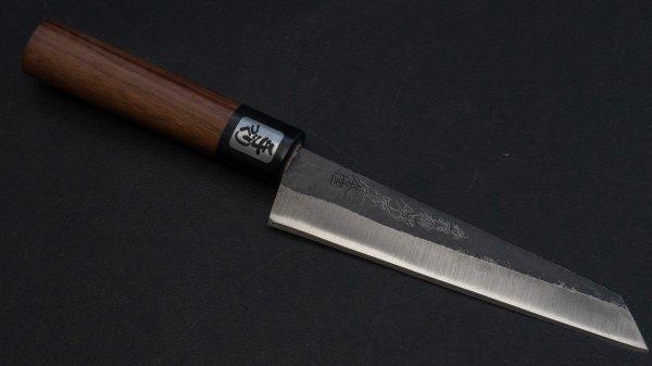 本種子島 骨スキ 紫檀柄 (黒/ 片刃)<br>Tanegashima Honesuki Kaku Rosewood Handle (Kurouchi)