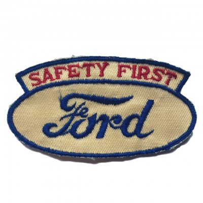 1930s Ford SAFETY FIRST ワッペン