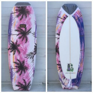 【Chiara】Board wax cover case - sunset beach chop -1611-M