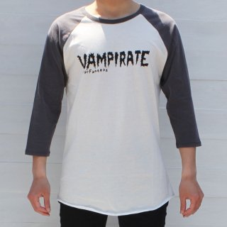 <img class='new_mark_img1' src='//img.shop-pro.jp/img/new/icons6.gif' style='border:none;display:inline;margin:0px;padding:0px;width:auto;' />【Vampirate】Tシャツ Logo Raglan Winter-White