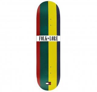 【FOLKLORE】TOMMY ・7.75 ホワイト/レッド - フォークロアのウォームプレススケートデッキ
