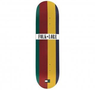 【FOLKLORE】TOMMY ・7.75 ホワイト/グリーン - フォークロアのウォームプレススケートデッキ