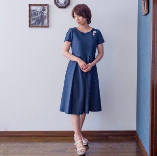 【XS-LL受注制作】アーミッシュ風シンプルワンピース◇デニム調