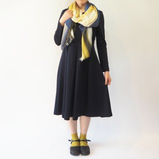 【L】アーミッシュ風シンプルワンピース◇長袖(ダークネイビー)*コットン素材*<img class='new_mark_img2' src='//img.shop-pro.jp/img/new/icons5.gif' style='border:none;display:inline;margin:0px;padding:0px;width:auto;' />