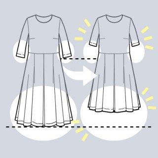 アーミッシュ風シンプルワンピース◇袖丈・スカート丈を短くお直し