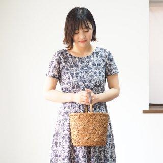 【サイズ完成品お直し】アーミッシュ風シンプルワンピース◇スカート丈・袖丈を短く