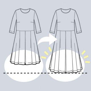【スカート丈を長くリメイク】アーミッシュ風シンプルワンピース◇リメイク