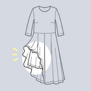 【スカートに裏地を追加するリメイク】アーミッシュ風シンプルワンピース◇リメイク