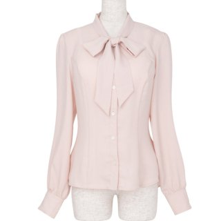 <img class='new_mark_img1' src='https://img.shop-pro.jp/img/new/icons57.gif' style='border:none;display:inline;margin:0px;padding:0px;width:auto;' />Bowtie blouse -Pink-