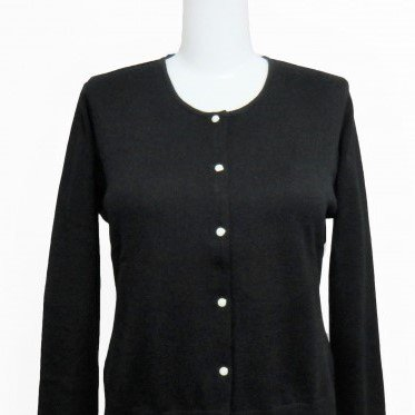 Cardigan Round neck-Black-