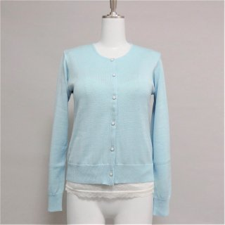 <img class='new_mark_img1' src='https://img.shop-pro.jp/img/new/icons11.gif' style='border:none;display:inline;margin:0px;padding:0px;width:auto;' />Cardigan Round neck-Powder Blue-
