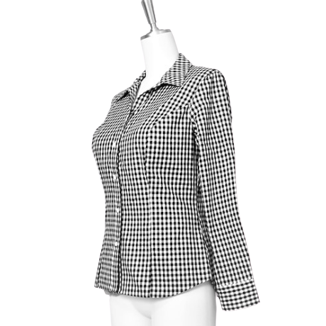 【30%OFF】Gingham check blouse