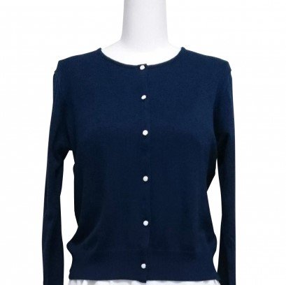 【4000円OFF】(旧)Cardigan Round neck -Navy-