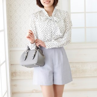 <img class='new_mark_img1' src='https://img.shop-pro.jp/img/new/icons24.gif' style='border:none;display:inline;margin:0px;padding:0px;width:auto;' />【30%OFF】Bowtie blouse -White×Black dot-