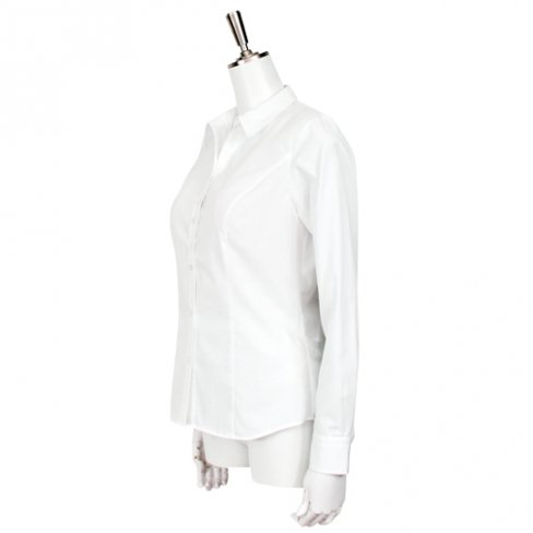 【50%OFF】White Shirt-Stripe (ストライプ織り) -