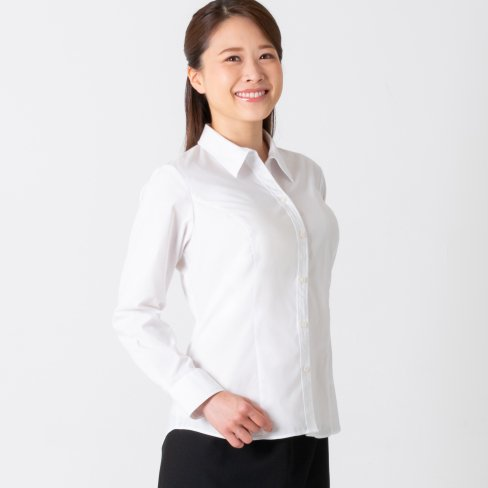 <img class='new_mark_img1' src='https://img.shop-pro.jp/img/new/icons57.gif' style='border:none;display:inline;margin:0px;padding:0px;width:auto;' />White Shirt-Premium (ストレッチ&透け防止) -