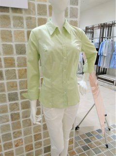 <img class='new_mark_img1' src='https://img.shop-pro.jp/img/new/icons24.gif' style='border:none;display:inline;margin:0px;padding:0px;width:auto;' />【50%OFF】Shirt Blouse-Apple Green-