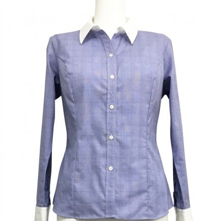 【30%OFF】Blue cleric shirt