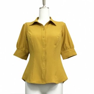 <img class='new_mark_img1' src='https://img.shop-pro.jp/img/new/icons24.gif' style='border:none;display:inline;margin:0px;padding:0px;width:auto;' />【50%OFF】Shirt Blouse (5分袖) -Mustard-