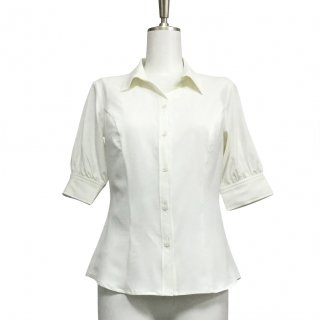 <img class='new_mark_img1' src='https://img.shop-pro.jp/img/new/icons13.gif' style='border:none;display:inline;margin:0px;padding:0px;width:auto;' />Shirt Blouse(5分袖)-White-